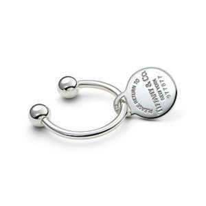 Return to Tiffany & Co Silver Round Tag Key Ring